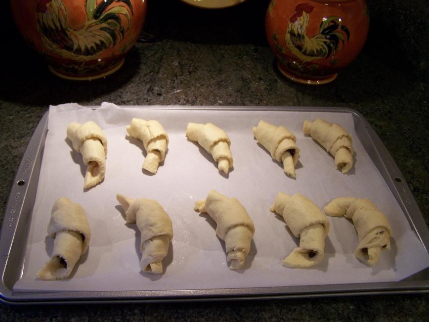 Roll & Bake 375 degrees for 10 min.