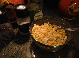 Add olive oil, salt & pepper.
