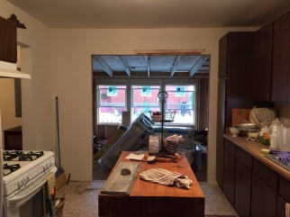 Kitchen Wall After