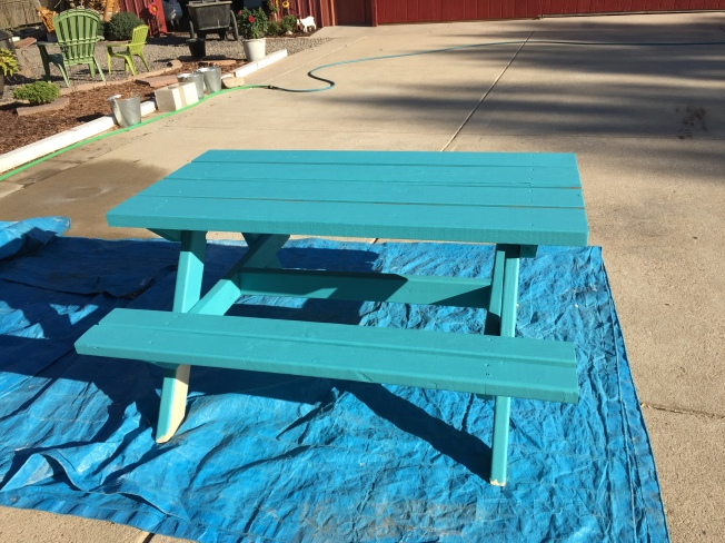 Kids Picnic Table Painted Country Girl - Picnic table paint colors
