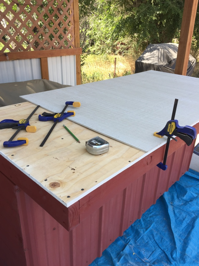 Outdoor Kitchen/Bar Update | Country Girl